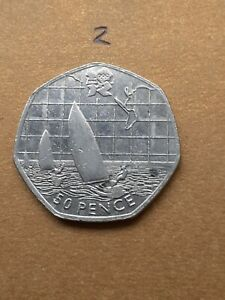 50p coin olympic Sailing