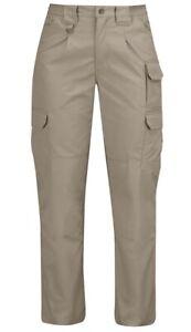 Propper Womens 8 Tactical Pant 65/35 Poly/Cotton Canvas Khaki unhemmed Beige