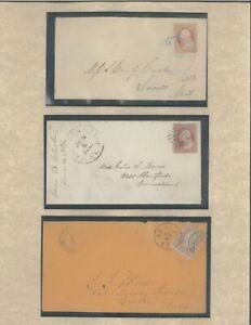 1853-1861 George Washington United States Postage Stamps on Envelopes Exhibit