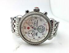 Michele Round Ladies Diamond Stainless Steel Watch Women's Designer CSX