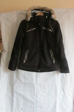 // Authentic Sunice Ladies Black Jacket Hooded Full Zip Size 6