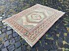 Area rug, Turkish rug, Vintage rug, Handmade rug, Wool rug Carpet   3,5 x 4,7 ft
