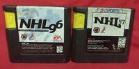 NHL Hockey 96 + 97 NHLPA EA Sports Sega Genesis Working + Tested - 2 Game Lot