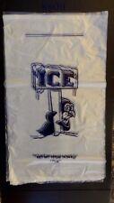 1000 Bags ~ 10 Lb Hilex 1021405 Ice Penguin Clear Bag w/ Twist Ties 12 x 22