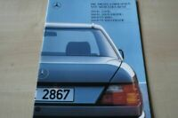 206389) Mercedes 200 D - 300 D Turbo 4matic W124 Prospekt 01/1988