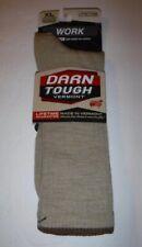 New Pair Darn Tough Vermont Men's Tan Work Socks #1480 Size XL Mid Calf Light