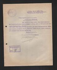KÖLN, Brief 1925, Sekretär der Niederländischen Handelskammer Köln