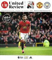 Manchester United v Manchester City 8th March 2020 Match Programme 2019/20