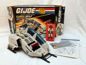 Vintage GI Joe Cobra Wolf complete w/ Ice Viper cut box & instructions 1987