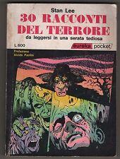 Stan Lee 30 RACCONTI DEL TERRORE eureka pocket n. 8 editoriale corno 1972