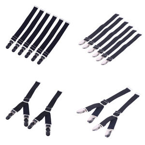 Set of 2/6 Elastic Garter Belt Straps Suspender Clip Garters for Corset&Stocking