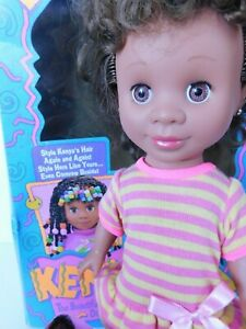 VINTAGE 1992 Original KENYA Beautiful Hairstyling Doll African American
