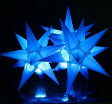 3er LED Außen-Stern-Set blau Außenstern Adventsstern Weihnachtsstern Outdoor
