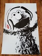 ELMO SESAME STREET - BEATS BY DRE feat. Elmo! RARE 24x36 Promo Poster
