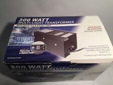 Alpine 300 Watts Multi-Light Transformer Photo Cell & Digital Timer, Works Great