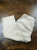 Women's Lauren Ralph Lauren Active LRL Khaki Chino Capri Pants Size 4
