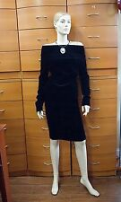 LOUIS VUITTON PARTY EVENING SKIRT SET AUTHENTIC BLACK 38 FR S MADE IN FRANCE