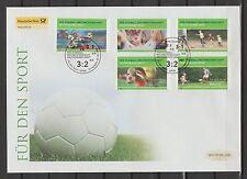 06.03.2003 Bund 2324-2328 FDC Sporthilfe Fussball-Weltmeisterschaft 2006