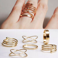 Charm Unique Ring Set Punk Alloy Knuckle Rings per donna 6 PCS Anelli per dit GC