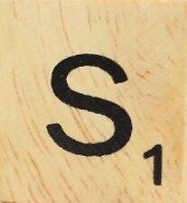 INDIVIDUAL WOOD SCRABBLE TILES! 8 FOR $2, THEN 25 CENTS PER TILE. LETTER S
