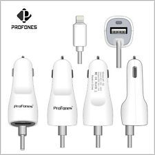 Genuine ProFones Car Charger For Apple iPhone SE 5  6 6S Plus 7 7 Plus 8 X XR