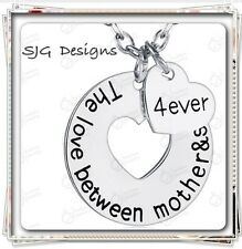 """"""" THE LOVE BETWEEN MOTHER AND SON IS 4EVER"""" Pendant Link Chain"""