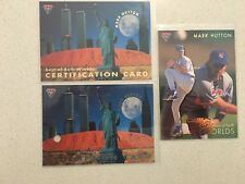 1995 Futera Mark Hutton Best of Both Worlds redemption set #234/1000  ABL MLB