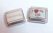 I LOVE MY LIFE 9mm Italian Charm + 1x Genuine Nomination Classic Link -RED HEART
