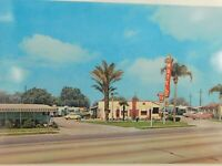 Rancho Descanso Motel El Monte California Classic Cars Hotel Vintage Postcard