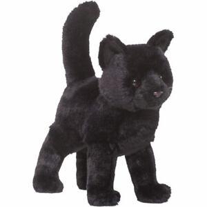 Kuscheltier Katze schwarz Plüschtier Stofftier Plüschkatze stehend