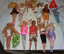 11 Vintage Barbies - 1966 onwards - See photos