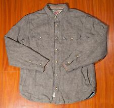 LEVI'S Thick Flannel Button Down Men's Shirt With Pockets Size Large