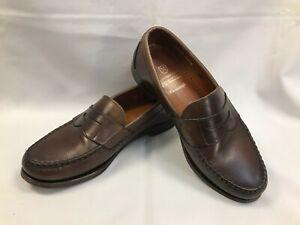 Allen Edmonds Mens Cavanaugh Loafers Shoes Brown Leather Slip-On Moc Toe 8.5 3E