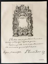 1926 - Lithographie citation M. Ed. Benès