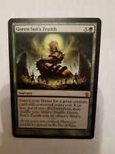 MTG. GREEN SUN'S ZENITH (3). MIRRODIN BESIEGED. RARE. MINT/NM. MAGIC