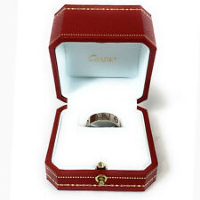 Authentic Cartier 18k White Gold Love Ring, Sz. 59