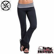 METAL MULISHA 'INSIGHT PANT' WOMENS TROUSERS SMALL UK 8 BLACK GREY BNWT RRP £44