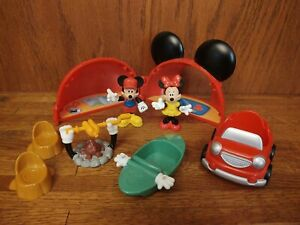 Mickey Mouse Clubhouse Camping Pals Playset Campfire Boat Mickey Minnie  2009