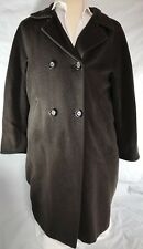 MAX MARA Italy Womens Sz 6 Brown Wool Cashmere One Button Double Breasted Coat