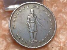 Canada Quebec 1852 One Penny Bank Token Coin Has Detail #2C
