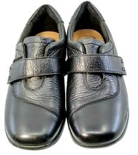 Clarks Collection Gael Bombay Flat Womens 7.5M Black Leather Comfort Strap Shoes