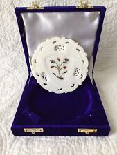 """The Bombay Store Alabaster Marble Inlay Plate Floral India 5"""""""