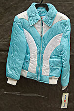 Vintage 1980's Light Blue & White Retro White Stag Kids Ski Winter Jacket Sz 10