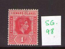 LEEWARD ISLANDS George VI 1d  ,scarlet, dieA, single,  L/hinged