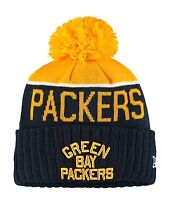 Green Bay Packers Throwback Players Sideline Sports Knit Beanie Cap Hat New Era