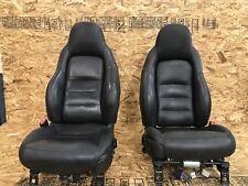 CHEVROLET CORVETTE (05-08) C6 SET FRONT LEFT RIGHT SEAT SEATS BLACK OEM AIRBAG