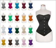 Steel Boned Waist Training Shaper hourglass Full Bust Cotton Corset 9974C