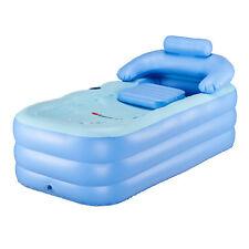 Aufblasbare Badewanne Faltbar Beweglich mit Fußluftpumpe für Erwachsene PVC