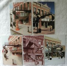 5 Different Winding Staircase, Stairs, Traer, Iowa IA postcards