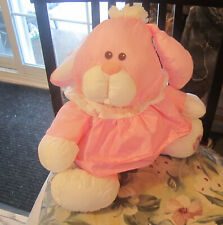1986 Vintage Fisher Price Puffalump Pink Bunny  Plush Rabbit 8004 preowned